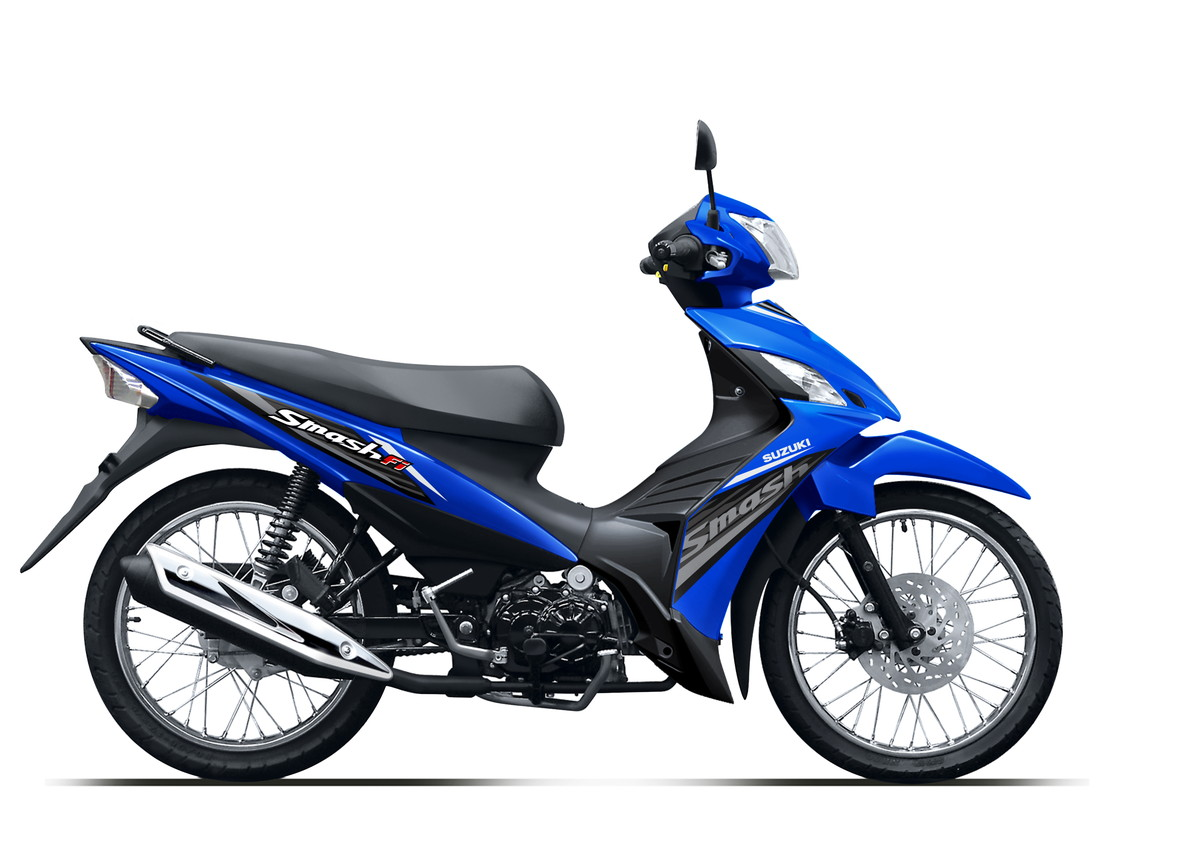 Suzuki Motor New Smash FI Blue Spoke Wheel