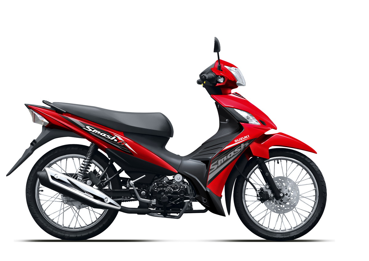 Suzuki Motor New Smash FI Red Spoke Wheel